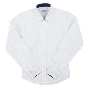 balti marškiniai