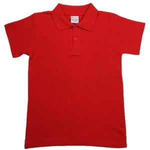 MAMAJUM raudoni polo marškinėliai 116cm-164cm