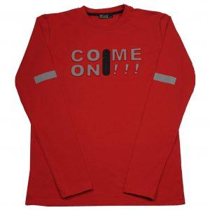 BOLD raudoni marškinėliai ilgomis rankovėmis 140-170cm