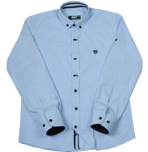 BOLD šviesiai mėlyni 2-in-1 marškiniai 116-134cm