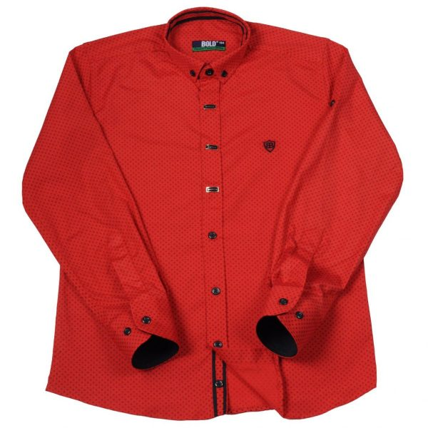 BOLD raudoni 2-in-1 marškiniai 116-134cm