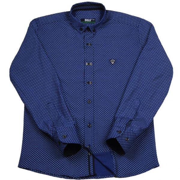 BOLD tamsiai mėlyni 2-in-1 marškiniai 116-134cm