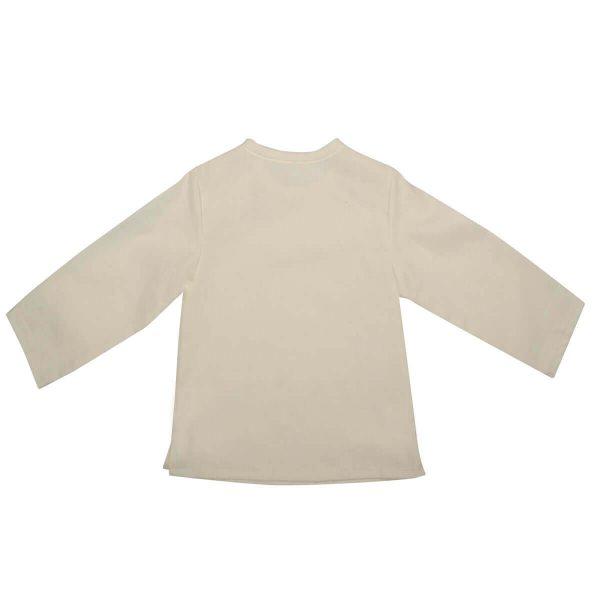 Mamajum smėlio spalvos lininiai krikšto marškinėliai