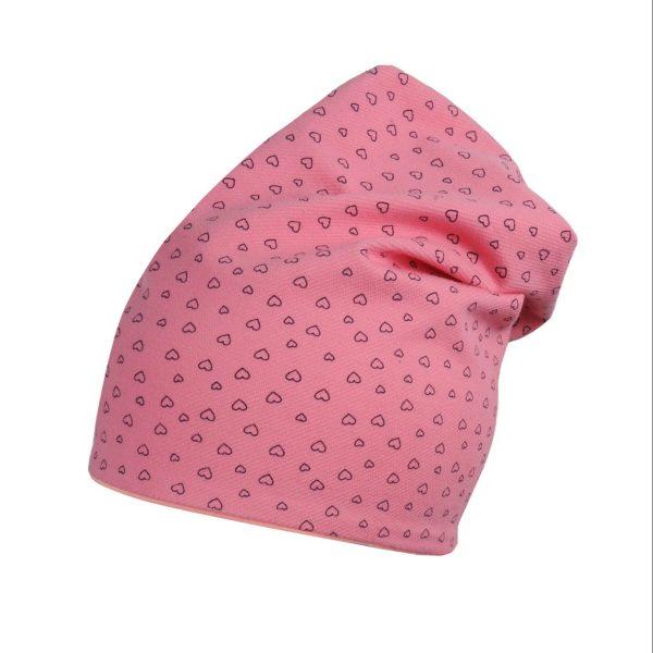 MAMAJUM dviguba kepurė Širdelė, rožinė